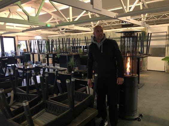 André Triep van strandclub 'WIJ' in Scheveningen