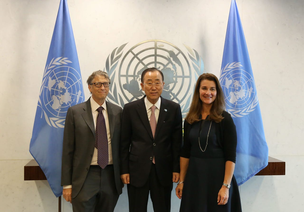 Het is niet de eerste keer dat de paden van Ban Ki-moon en Bill Gates elkaar kruisen