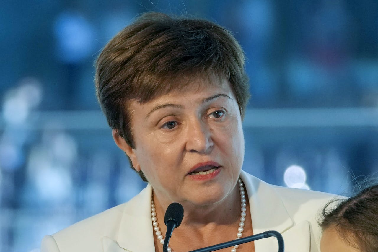 Kristalina Georgieva, de topvrouw van het IMF.