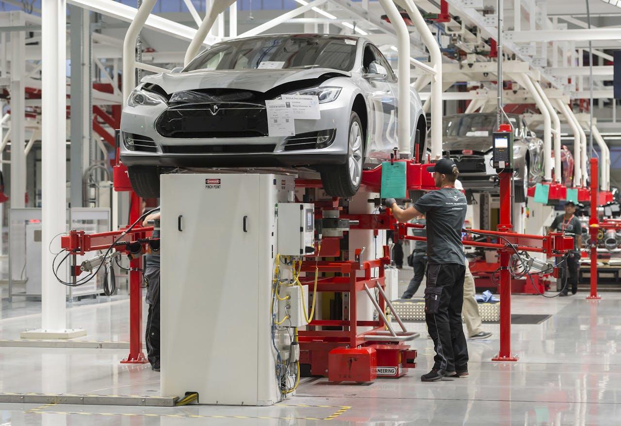 De nieuwe fabriek van Tesla in Tilburg. ANP LEX VAN LIESHOUT