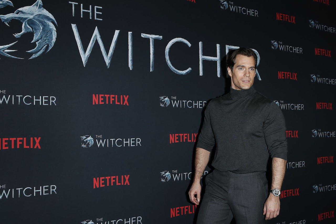 Hoofdrolspeler Henry Cavill tijdens de première van The Witcher