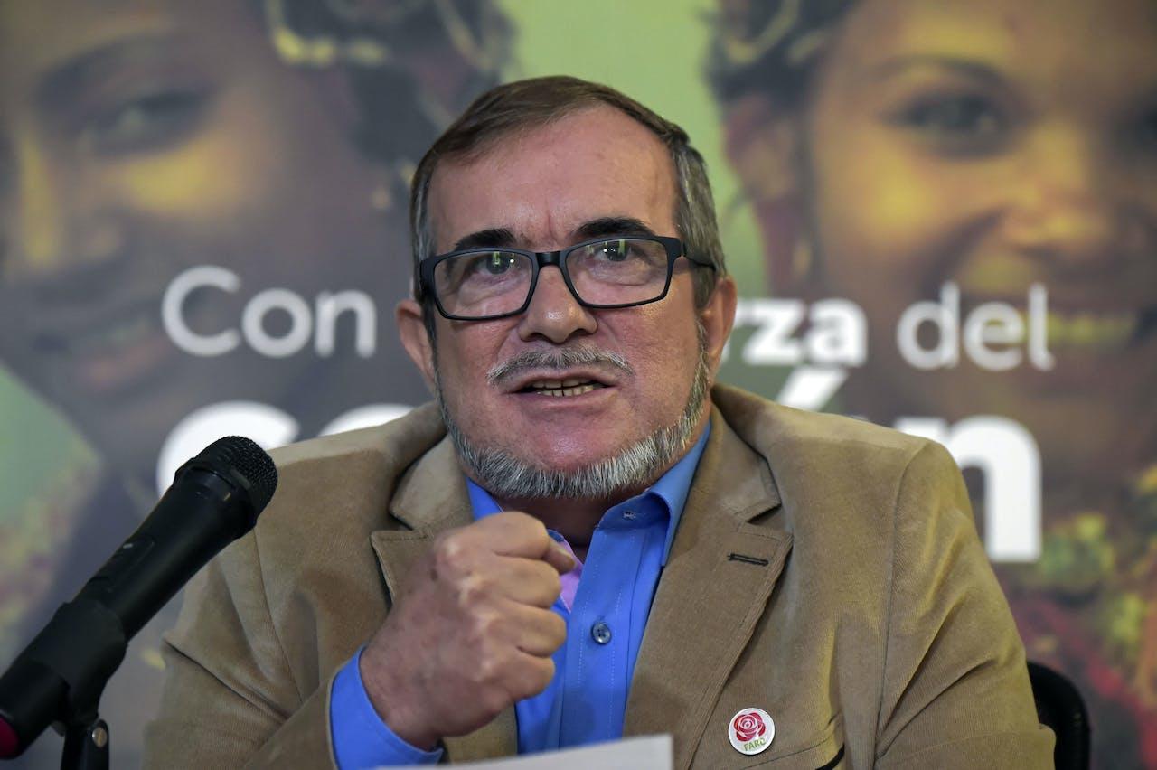 Rodrigo Lodoño Echeverri, bekend als Timochenko, was de presidentskandidaat voor de FARC. Tot hij zich terugtrok.