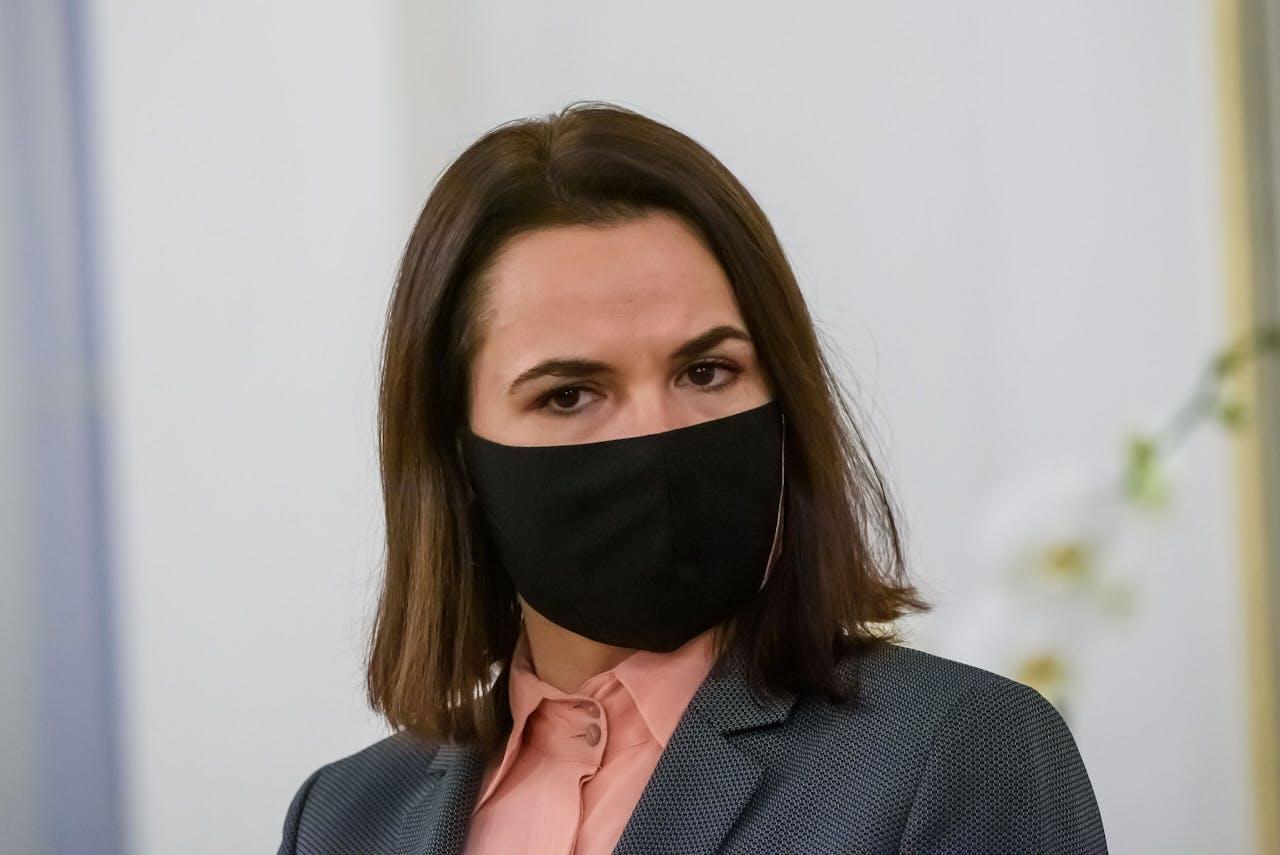 De Belarussische oppositieleidster Svetlana Tichanovskaja
