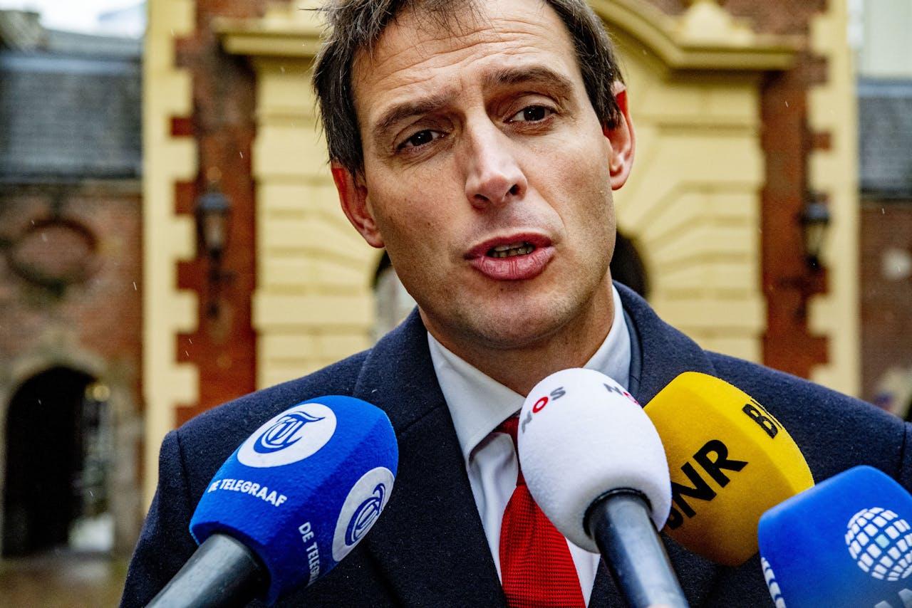 Minister Wopke Hoekstra van Financiën (CDA)