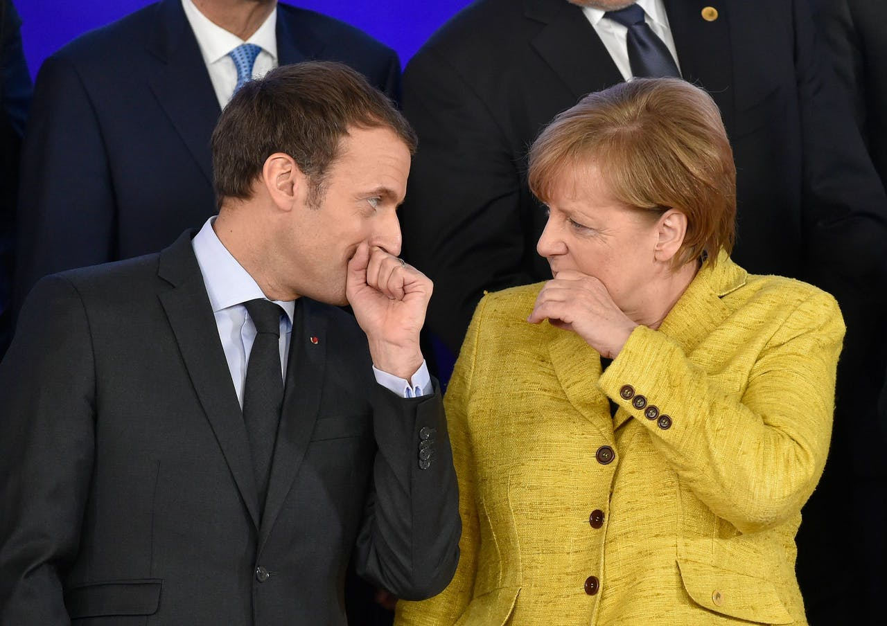Macron en Merkel.