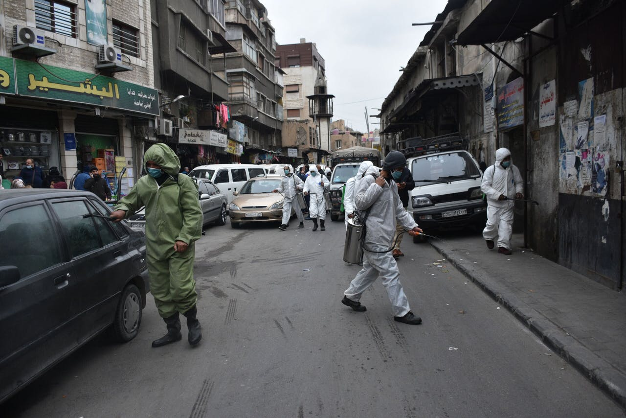 Covid-19 als 'nieuwe vijand' in Damascus