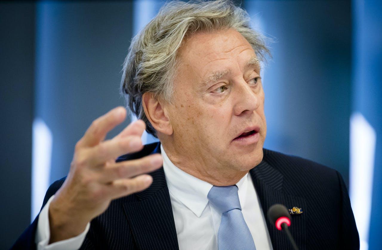 2018-06-14 14:15:56 DEN HAAG - Ed Nijpels, voorzitter van het Klimaatberaad, tijdens een overleg in de Tweede Kamer. ANP BART MAAT
