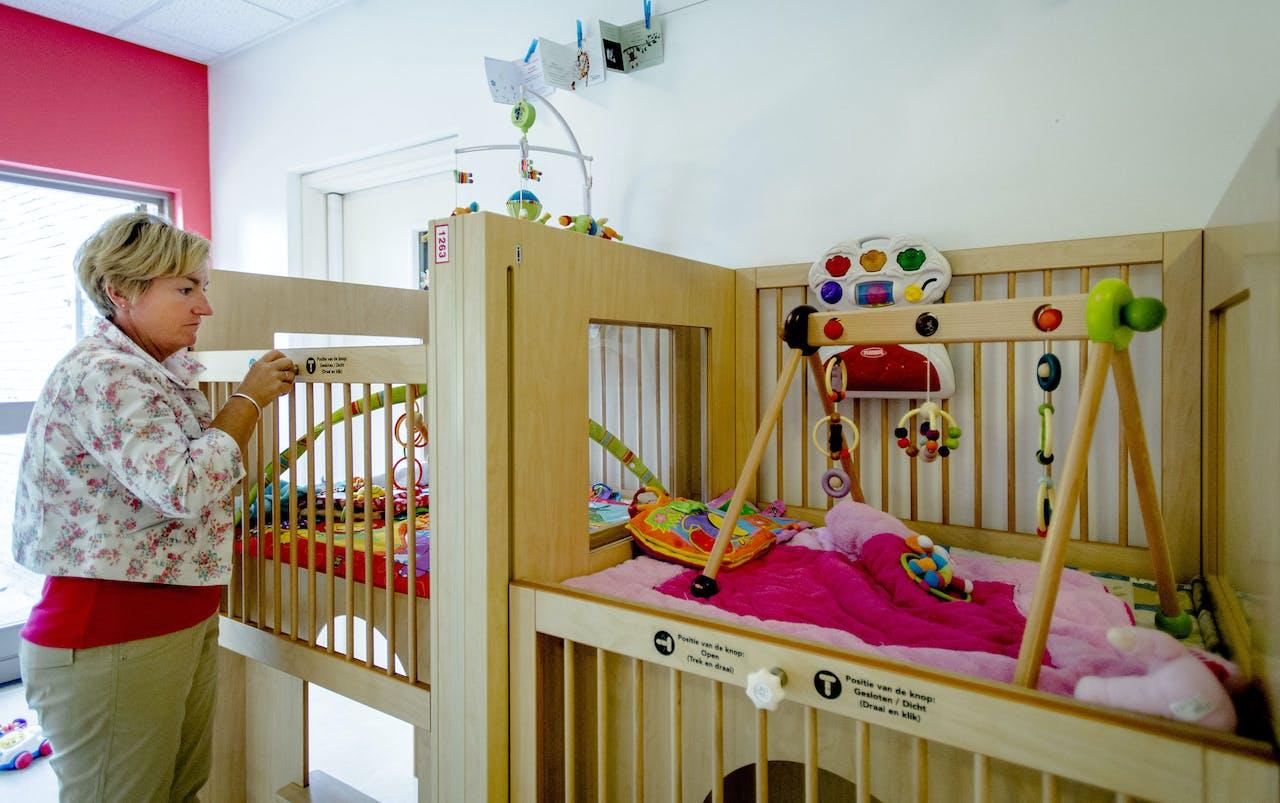 Interieur van een kinderdagverblijf van de failliet verklaarde kinderopvangorganisatie Estro. Met zo'n 250 filialen wordt een doorstart gemaakt onder de naam Smallsteps.