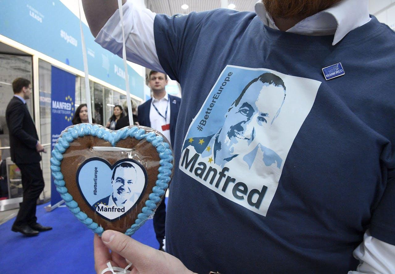 Manfred Weber van de Europese Volkspartij. Markku Ulander / Lehtikuva / AFP) / Finland OUT
