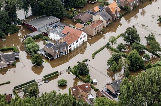Zware overstromingen in Limburg eerder deze maand.