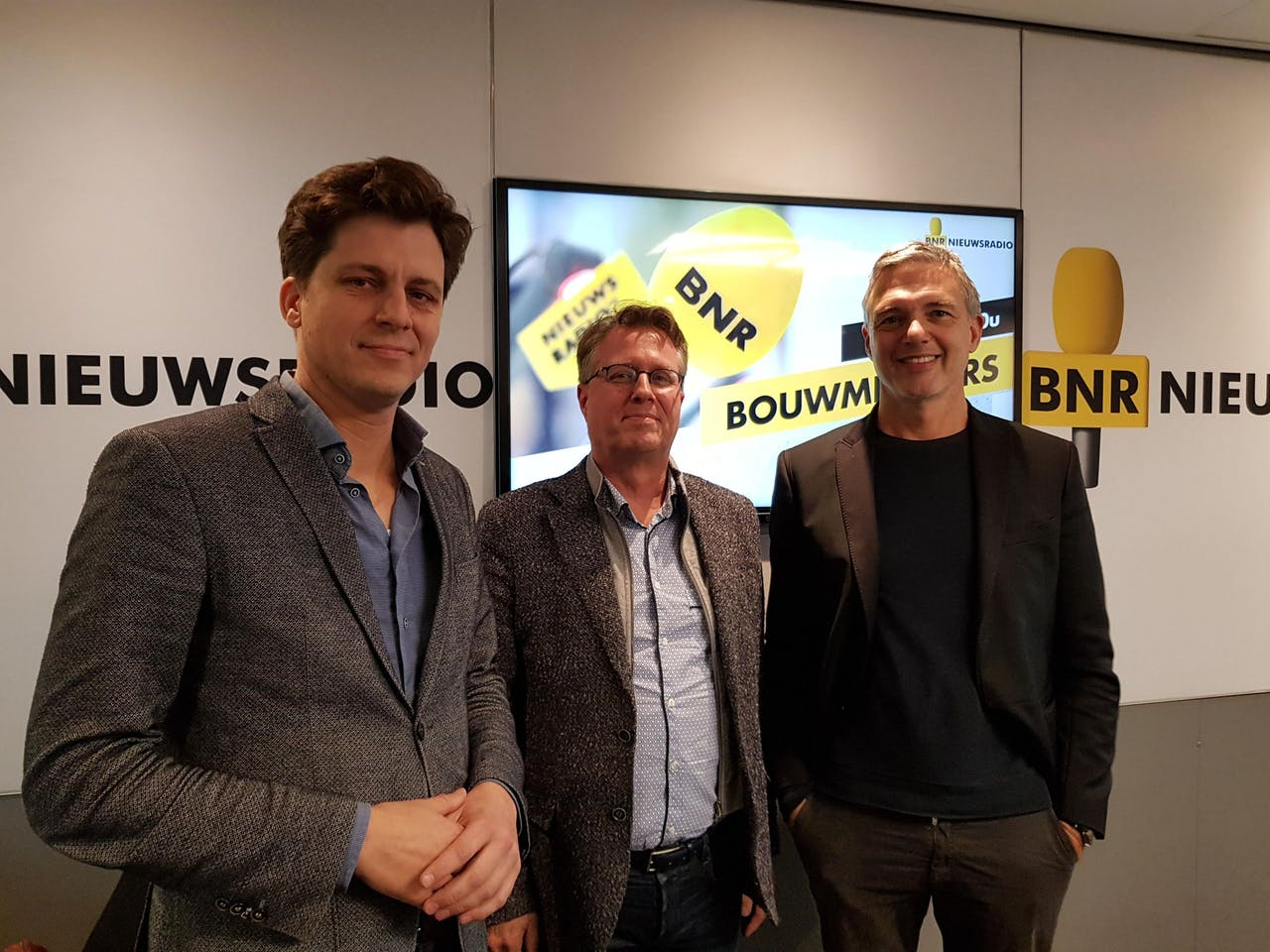 V.l.n.r.: Friso Klapwijk, Erik Steegman en Paul Laseur