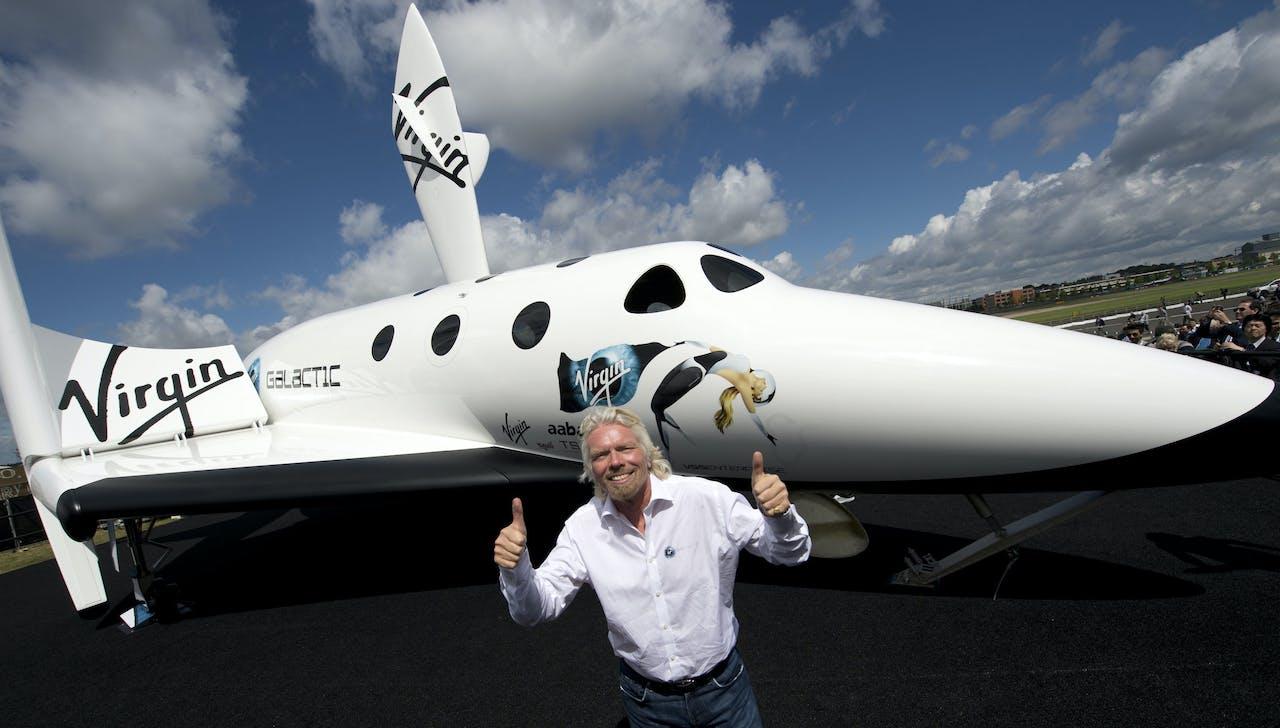 Eigenaar Richard Branson van Virgin Galactic