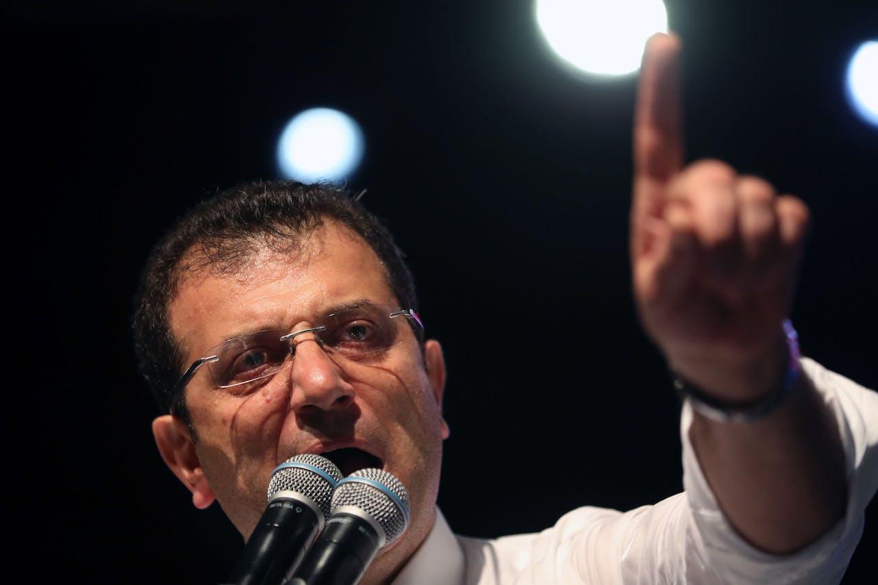 Burgemeester Ekrem Imamoglu van Istanbul. EPA/ERDEM SAHIN