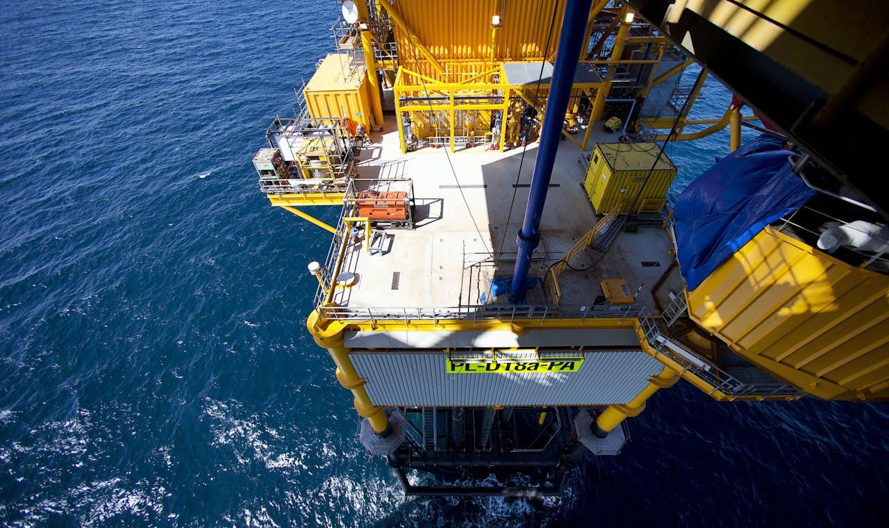 Boorplatform op Noordzee.