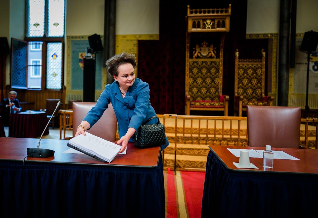 De huidige staatssecretaris Alexandra van Huffelen, die schoon schip moet maken