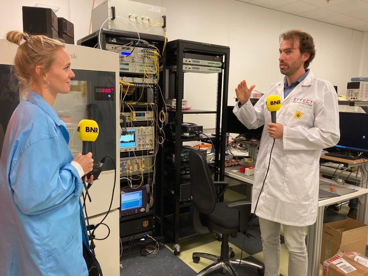 Karlijn Meinders in gesprek met Boudewijn Docter van Effect Photonics.