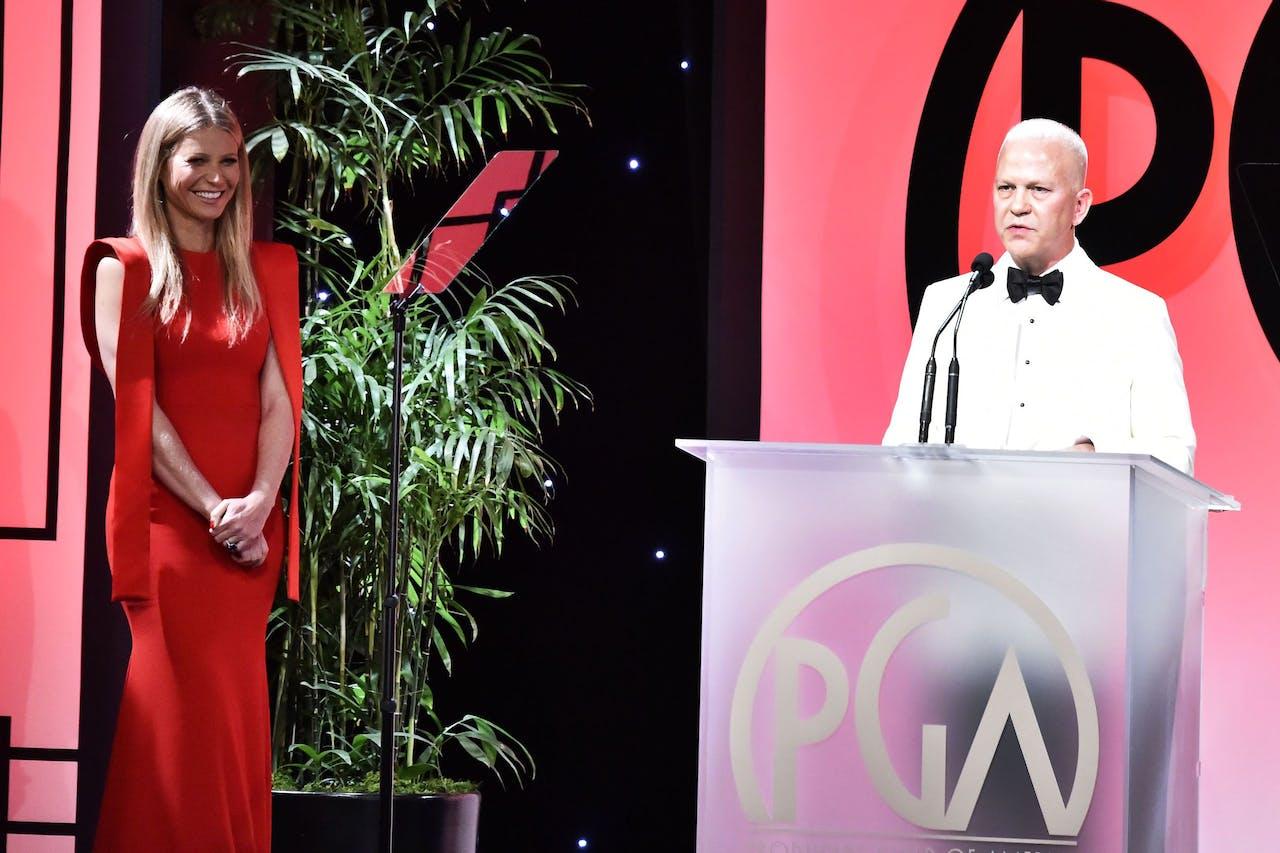 Actrice Gwyneth Paltrow en producer Ryan Murphy