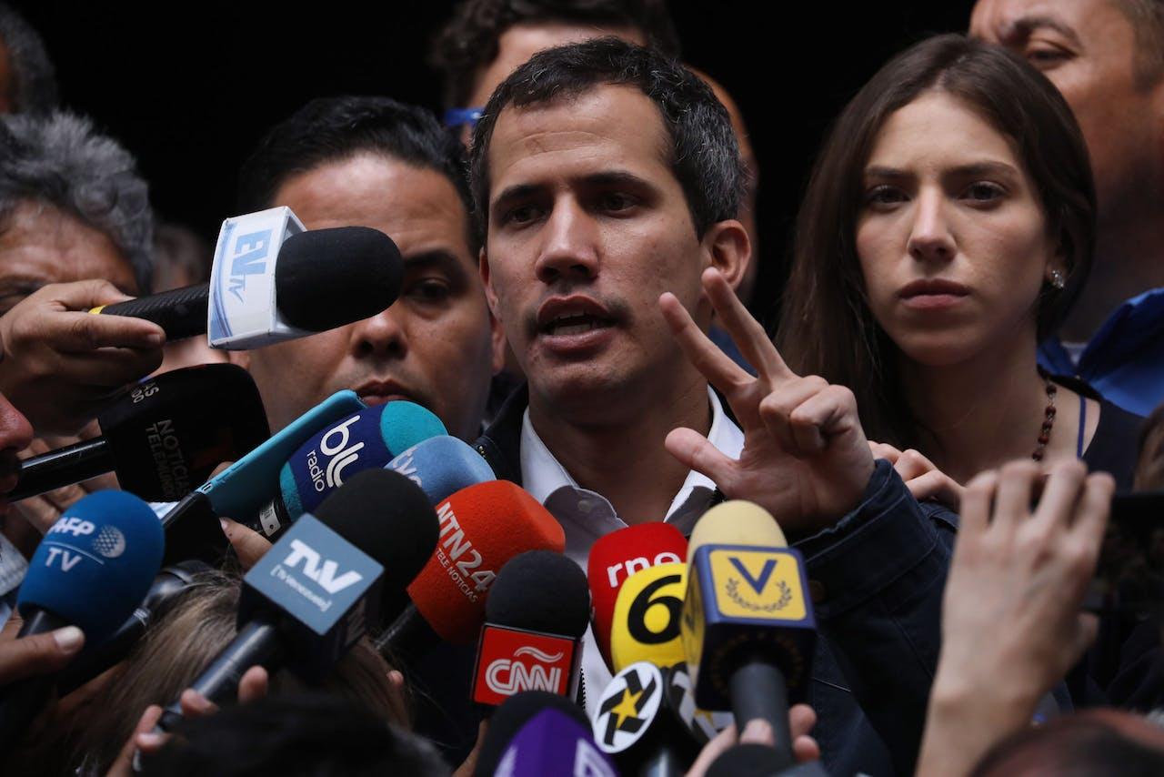 Juan Guaido, die zichzelf heeft uitgeroepen tot interim-president van Venezuela.