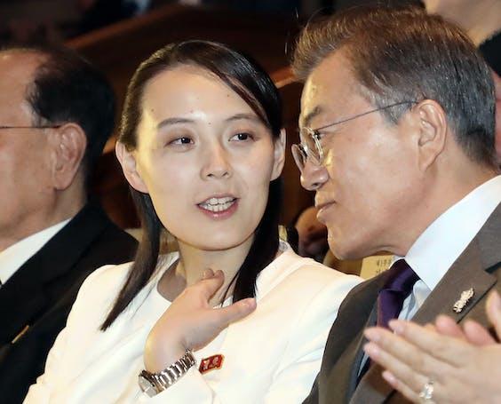 Kim Yo Jong en Moon Jae-in