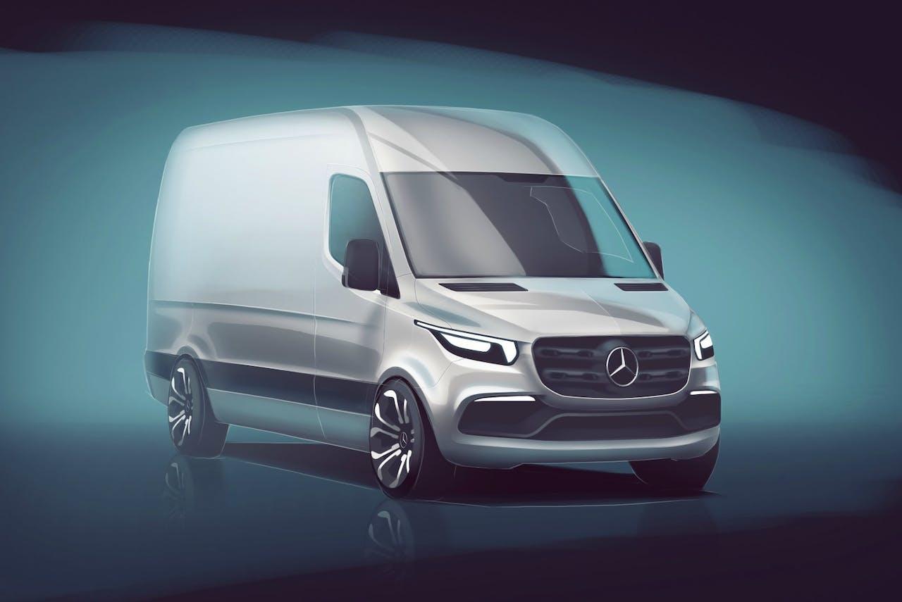 Eerste schets van de nieuwe Mercedes-Benz Sprinter