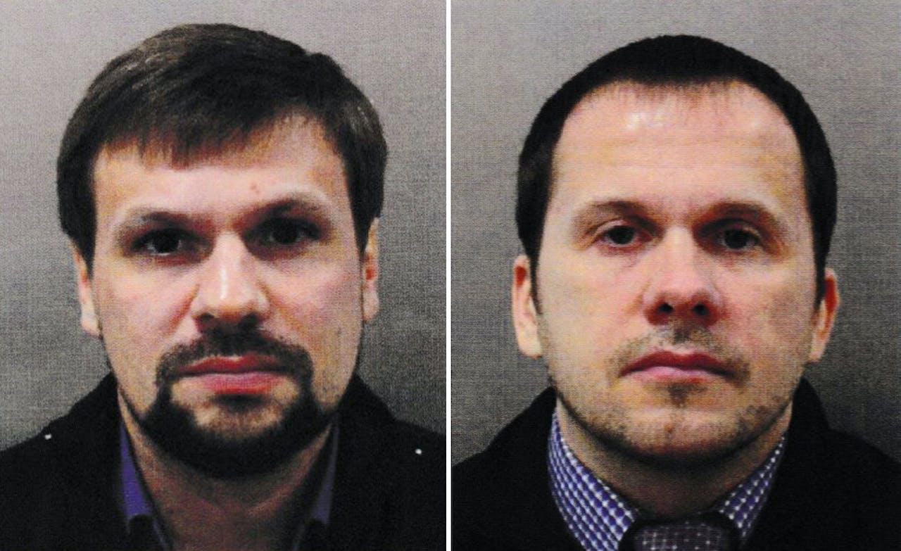 De twee verdachte Russen, links Anatoli Tsjepiga EPA/LONDON METROPOLITAN POLICE /