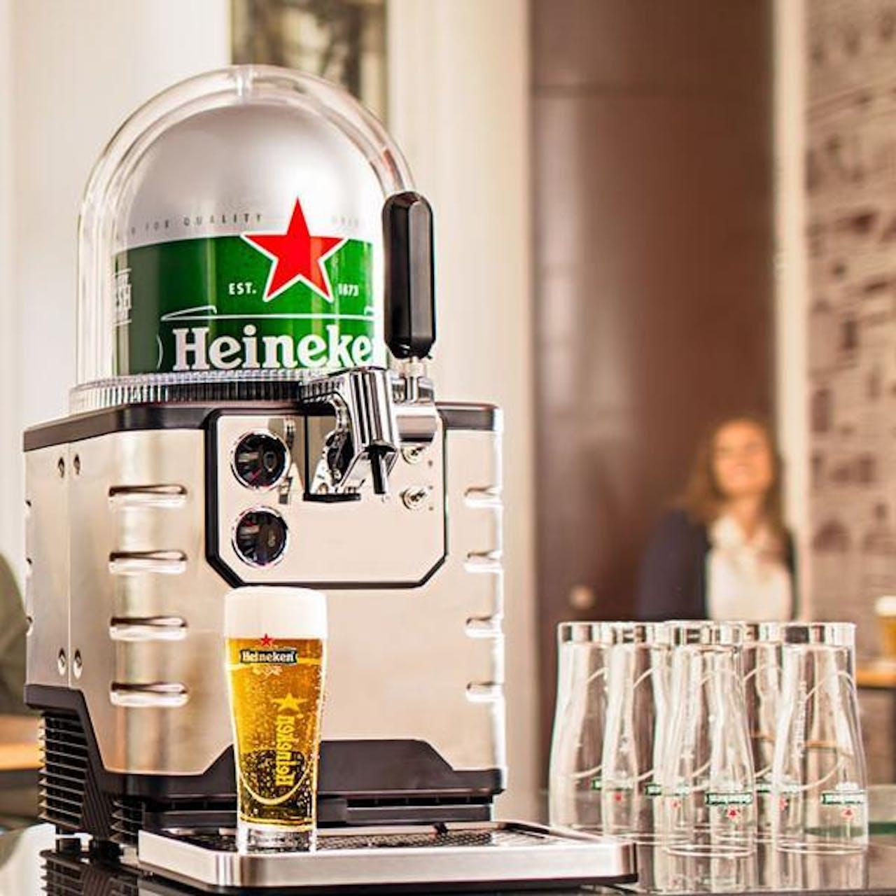 De Heineken BLADE in de 'gewone' uitvoering. De Connected BLADE is straks voorzien van een QR-code.