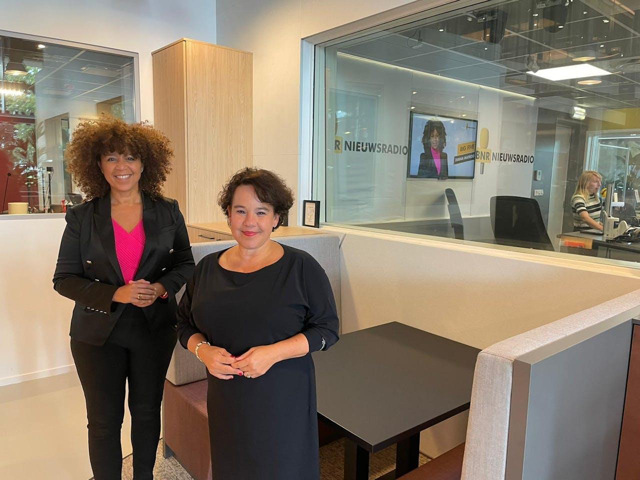 Diana Matroos en Sharon Dijksma