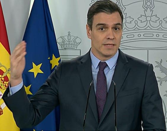 De Spaanse premier Pedro Sánchez