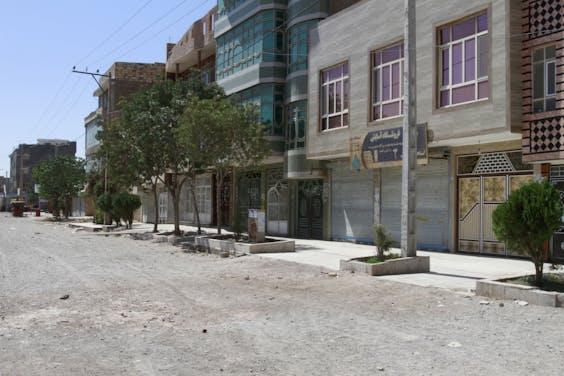 Een lege straat in Kabul