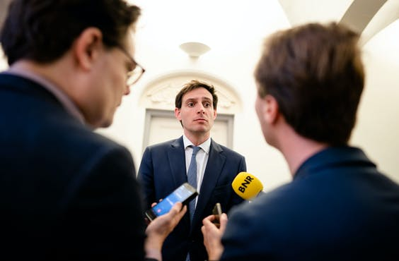 Minister Wopke Hoekstra van Financiën