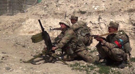 Azerische militairen in actie