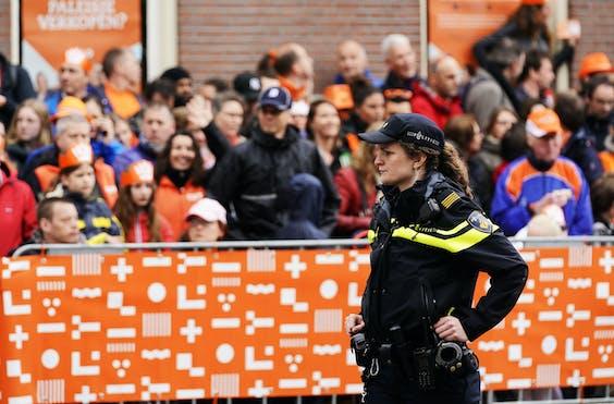 Politie-inzet tijdens Koningsdag 2019 in Amersfoort