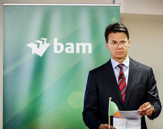 Scheidend CEO Rob van Wingerden (CEO) van bouwonderneming BAM