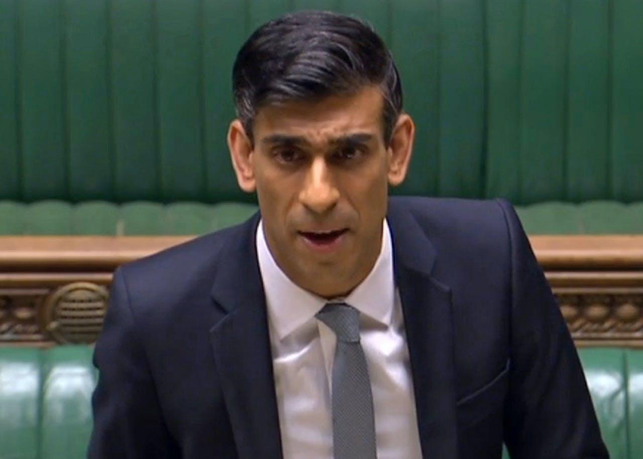 De Britse minister van Financiën Rishi Sunak