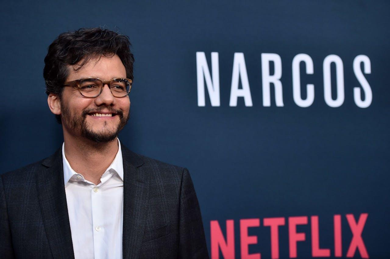 Acteur Wagner Moura, die de hoofdrol speelde in de serie Narcos
