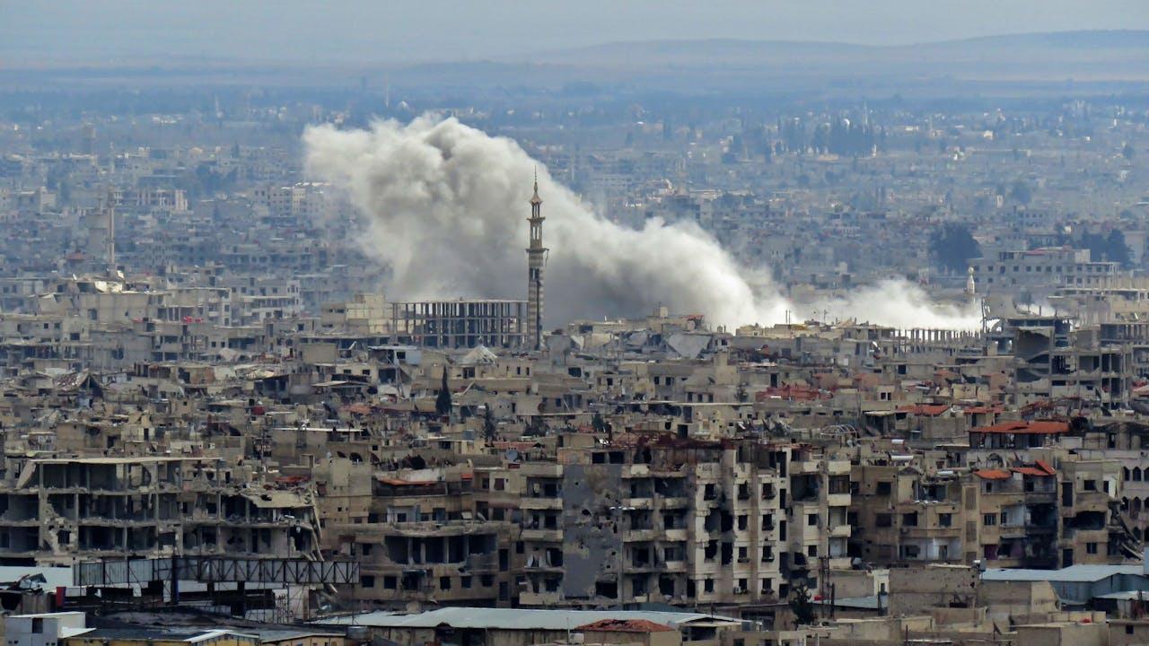 Damascus, vanmiddag.