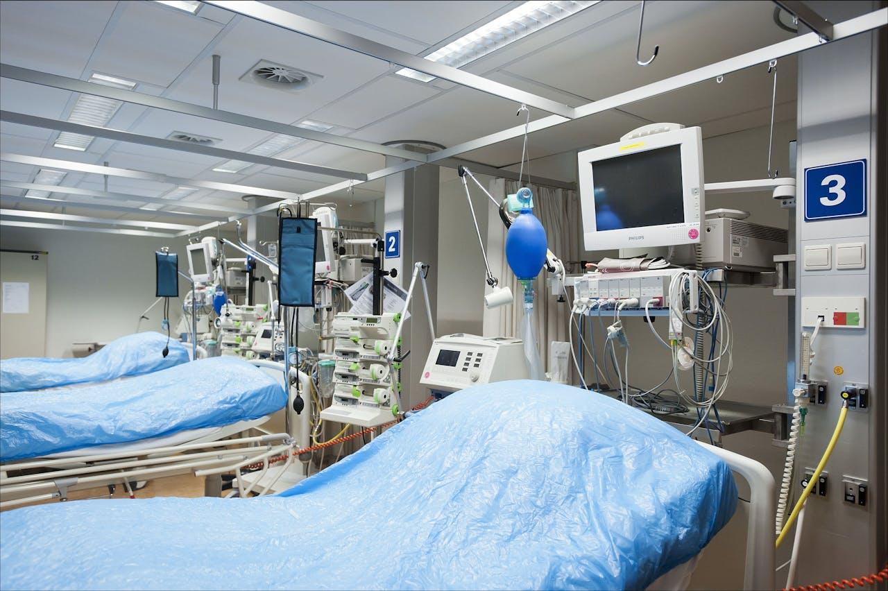 De intensive care in het Calamiteitenziekenhuis in Utrecht