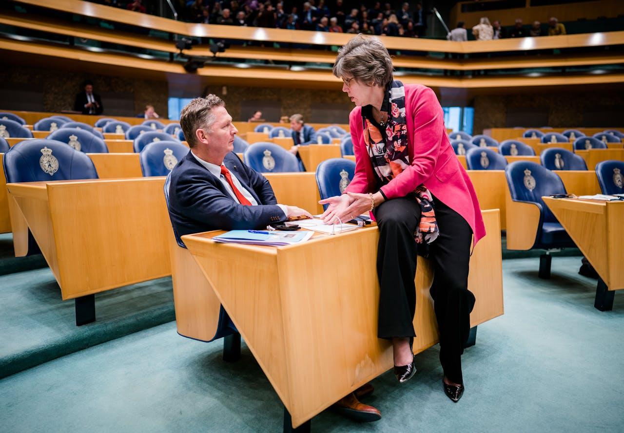 Zeeuwse kamerleden AndrŽ Bosman (VVD) en Joba van den Berg (CDA)