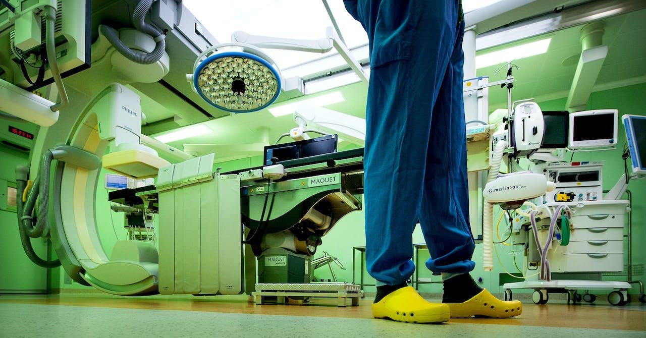 Operatiekamer in het Academisch Medisch Centrum (AMC).