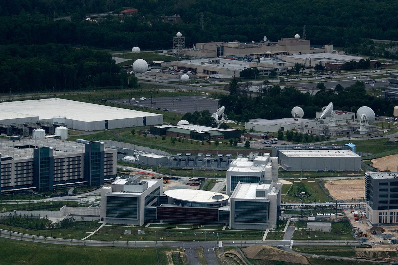 Het Amerikaanse Cyber Command Joint Operations Center in Fort Meade, in de staat Maryland.