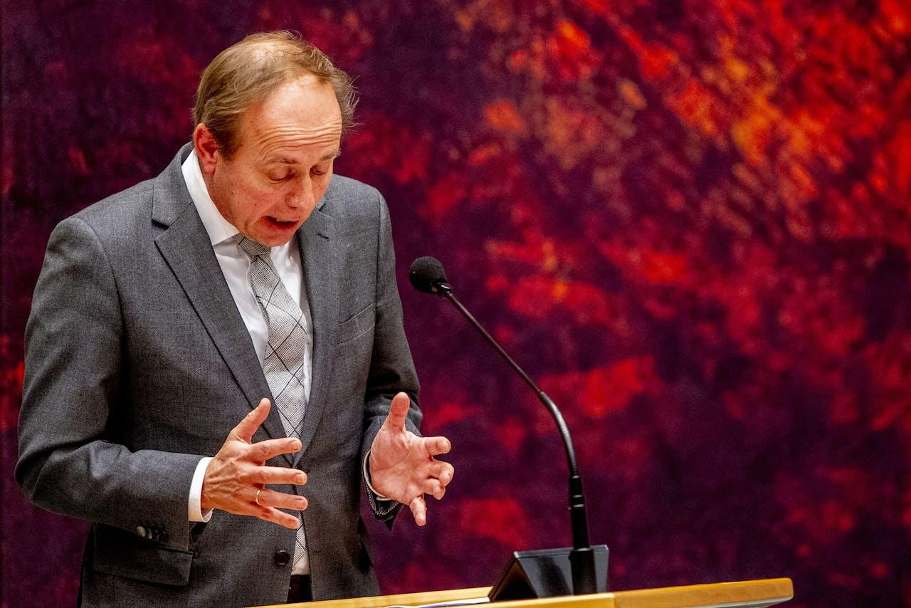 Kees van der Staaij tijdens een debat in de Tweede Kamer