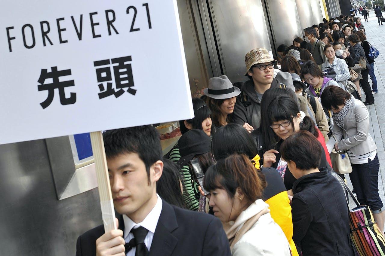 Opening van een Forever 21-filiaal in Tokio in 2010