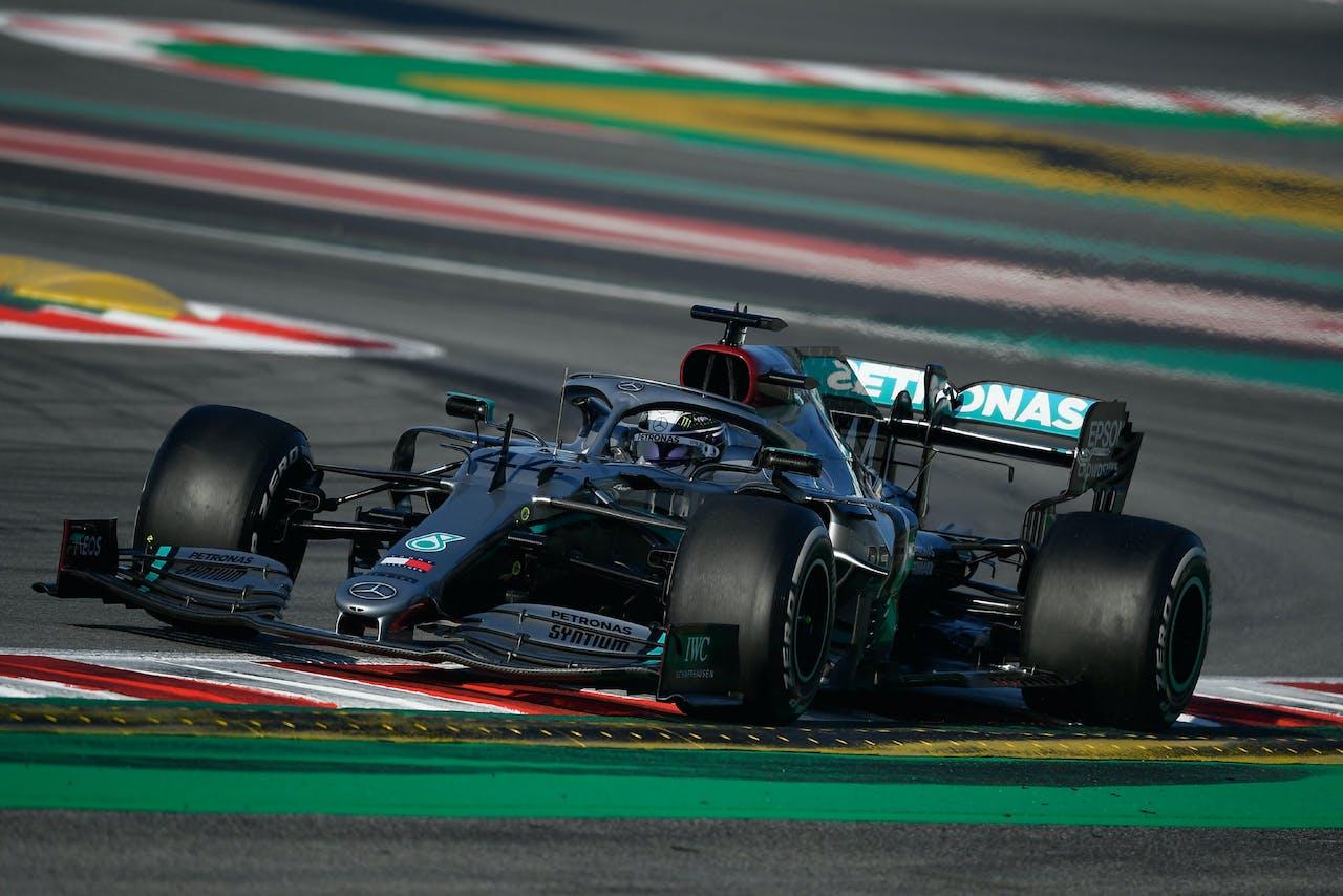 Mercedes op het Circuit de Catalunya in Montmelo