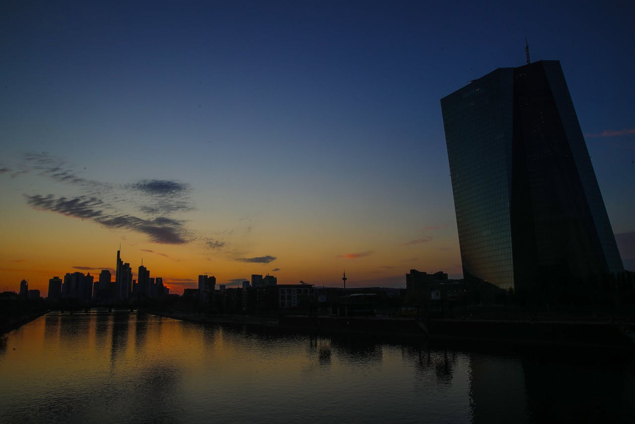De Europese Centrale Bank (ECB) in Frankfurt