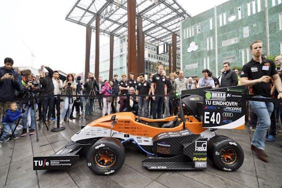 Een eerdere auto van University Racing Eindhoven