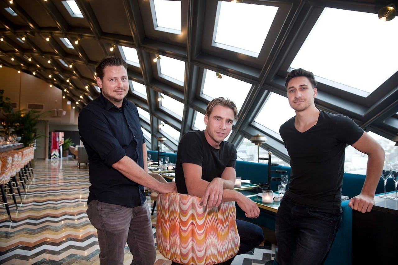 De oprichters van Formitable met in het midden Raymond Wilders.