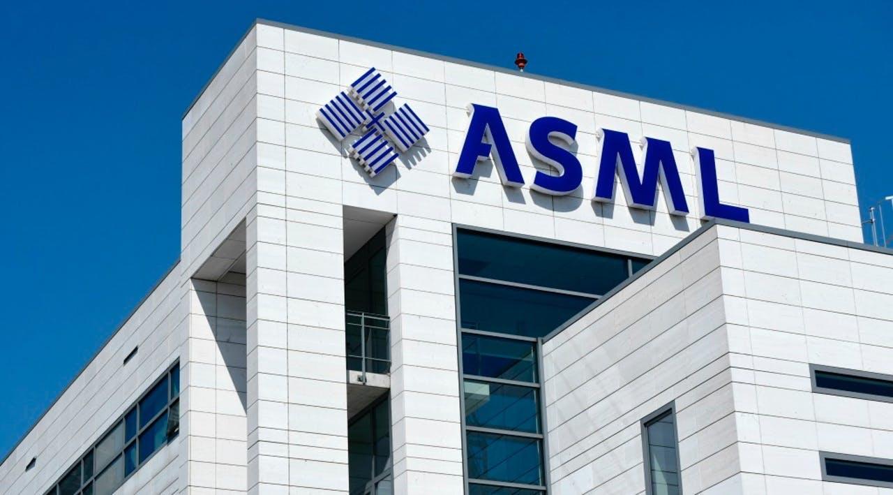 Het hoofdkantoor van ASML in Veldhoven
