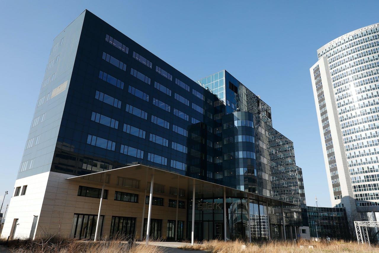 Het Sparkgebouw, het tijdelijke onderkomen van het Europees Geneesmiddelen Agentschap.