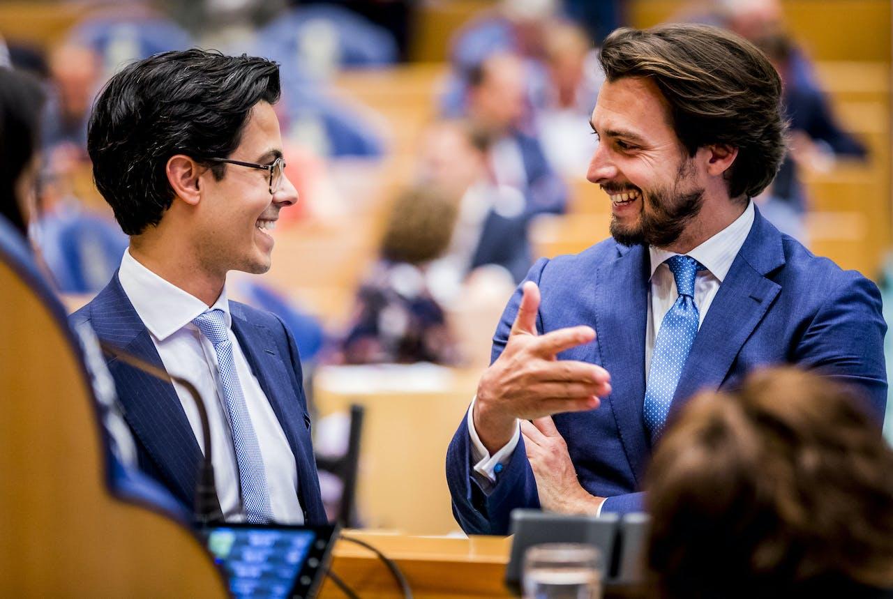 2019-05-14 14:12:27 DEN HAAG - Rob Jetten (D66) en Thierry Baudet (FvD) tijdens het wekelijkse vragenuur. ANP REMKO DE WAAL