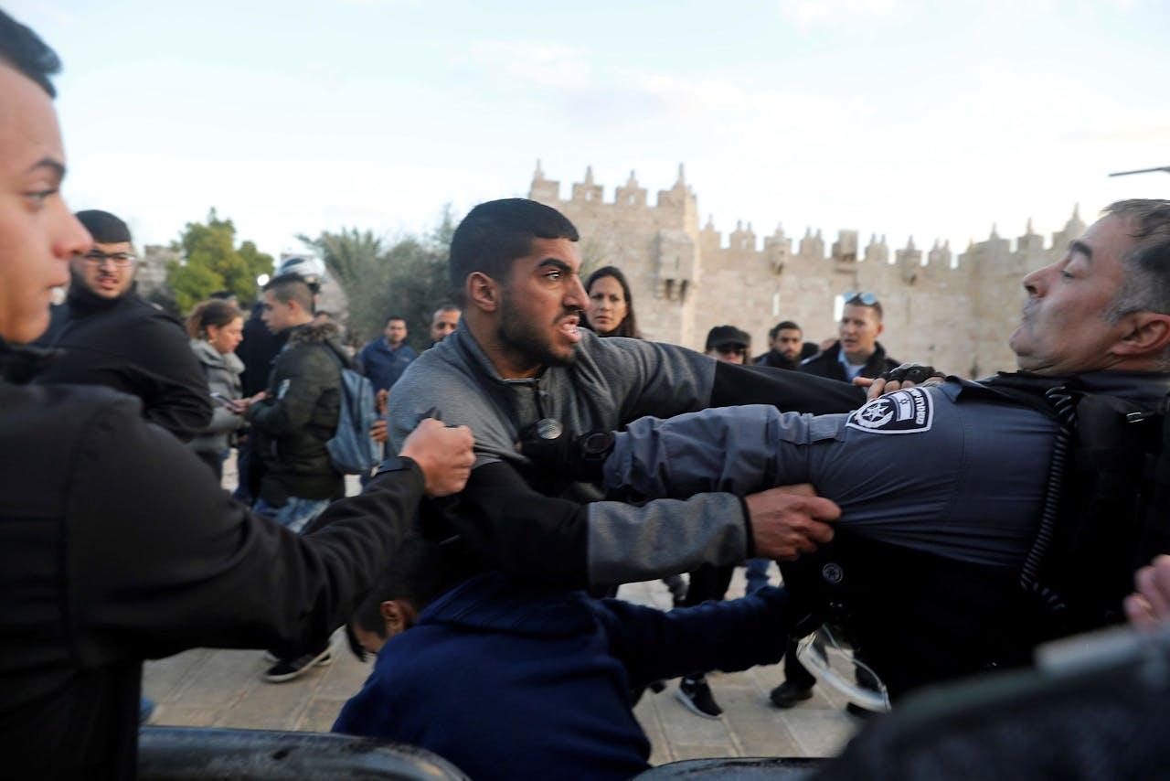Ongeregeldheden bij de Oude Stad in Oost-Jeruzalem